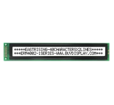 LCD Module 40x2 Pinout Character Display,Wide Angle,Black on White ERM4002FS-1